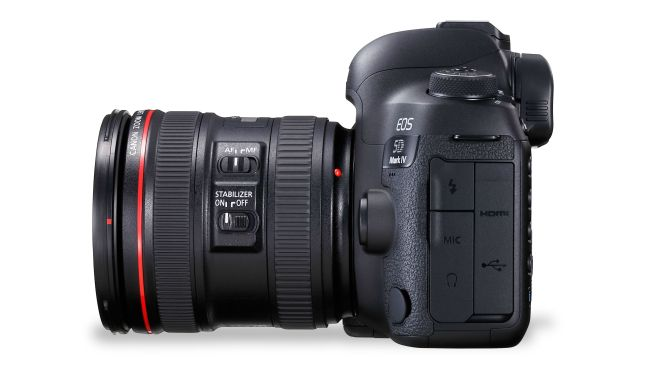 canon 5d mark iv side
